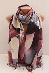 """Палантин шарф з абстракцією """"Раміна"""" (Туреччина) 115-10"""