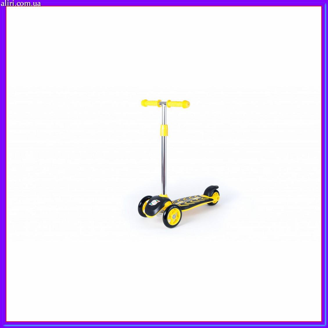 Самокат ORION 00164 желтый до 40 кг