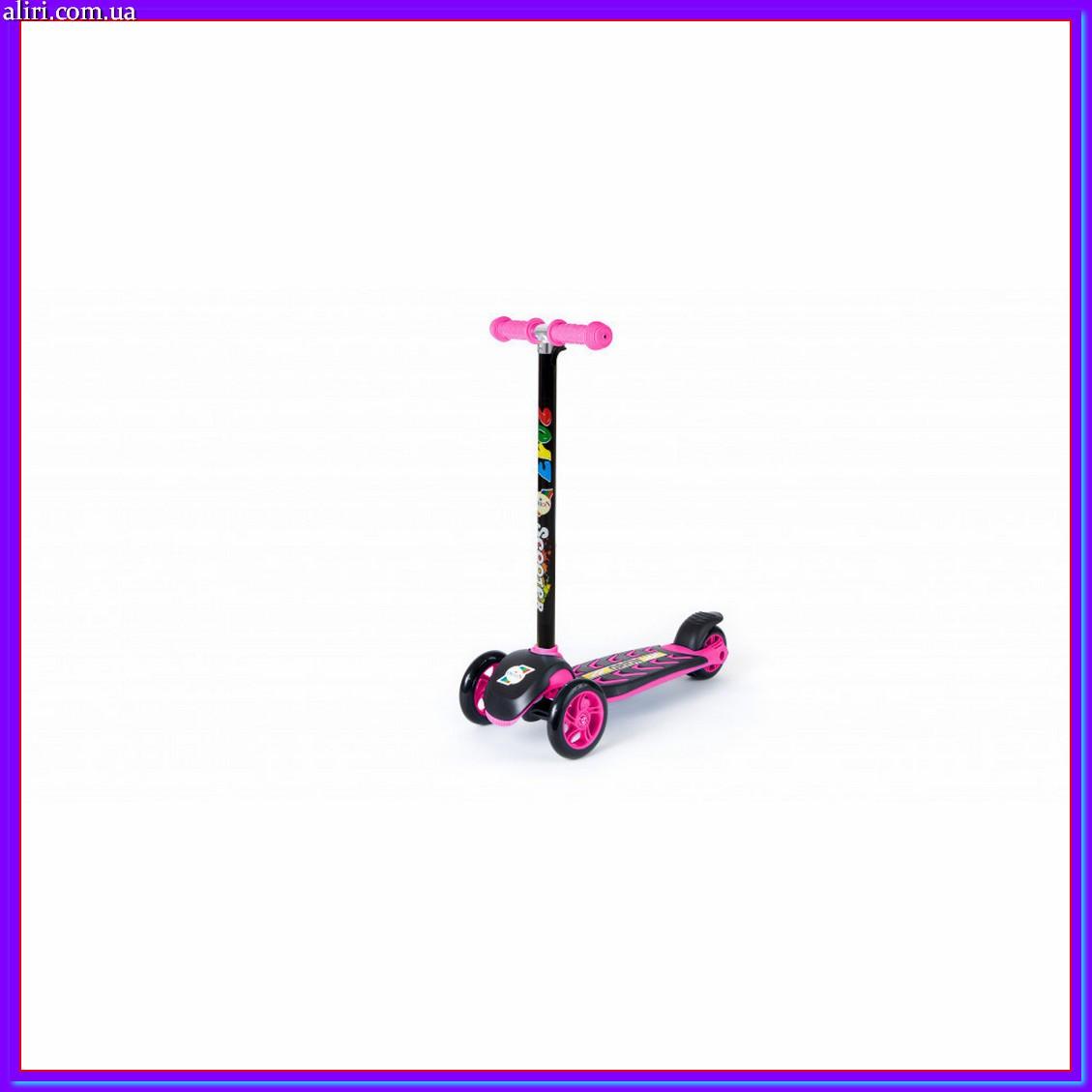 Самокат ORION 00164 розовый до 40 кг