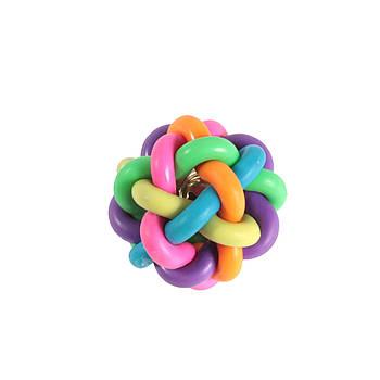 Игрушка для собак из литой резины FOX мяч лабиринт, 6 см