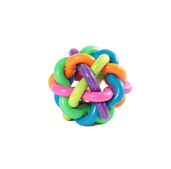 Игрушка для собак из литой резины FOX мяч-лабиринт, 5 см