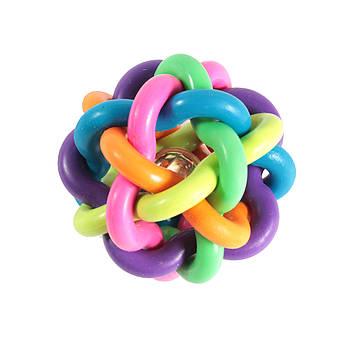 Игрушка для собак из литой резины FOX мяч-лабиринт, 7,5 см