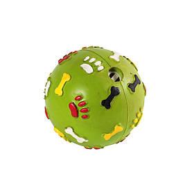 Игрушка для собак Мяч-погремушка лапки, 9 см