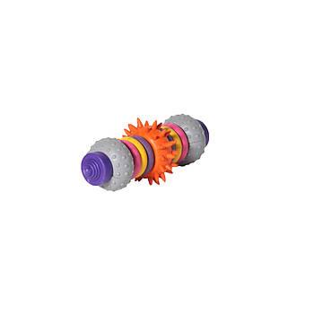 Игрушка для собак из литой резины FOX штанга Космос, 15,5 см