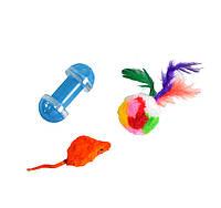 Набор игрушек д/кош (мышь, мех.шар + гантель)