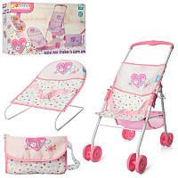 Игровой набор для Пупс или кукла типа baby born беби берн, коляска, шезлонг, сумочка, D94523