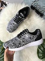 Мужские кроссовки черно-белые Pull&Bear
