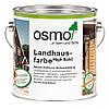 Непрозрачная краска для деревянных фасадов Osmo Landhausfarbe 2607 тёмно-коричневая 2,5 л