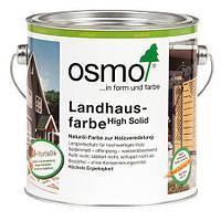 Непрозрачная краска для деревянных фасадов Osmo Landhausfarbe 2607 тёмно-коричневая 2,5 л, фото 1