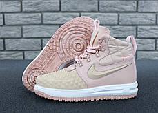 Женские кроссовки Nike Lunar Force 1 Duckboot 17 Pink розовый. ТОП Реплика ААА класса., фото 2
