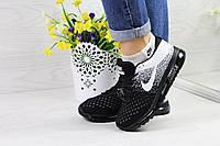 Кроссовки женские черные с белым Nike Flyknit Air Max 4371 d58464b6dadcc