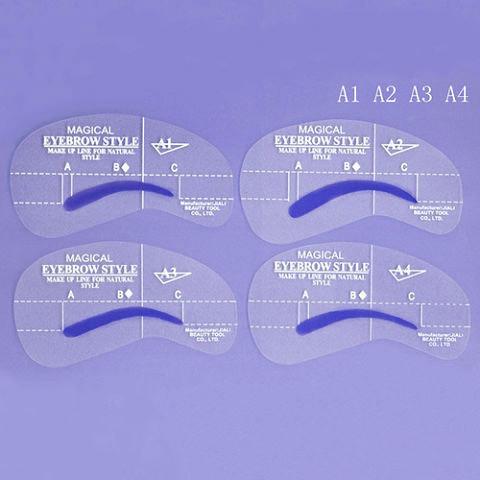 """Трафарет для бровей """"идеальные бровки"""" (4 шт в наборе). - DariVsem в Днепропетровской области"""