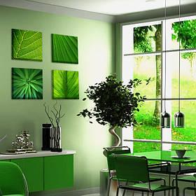 """Мультипанно """"Зелень"""" стильные картины на холсте"""