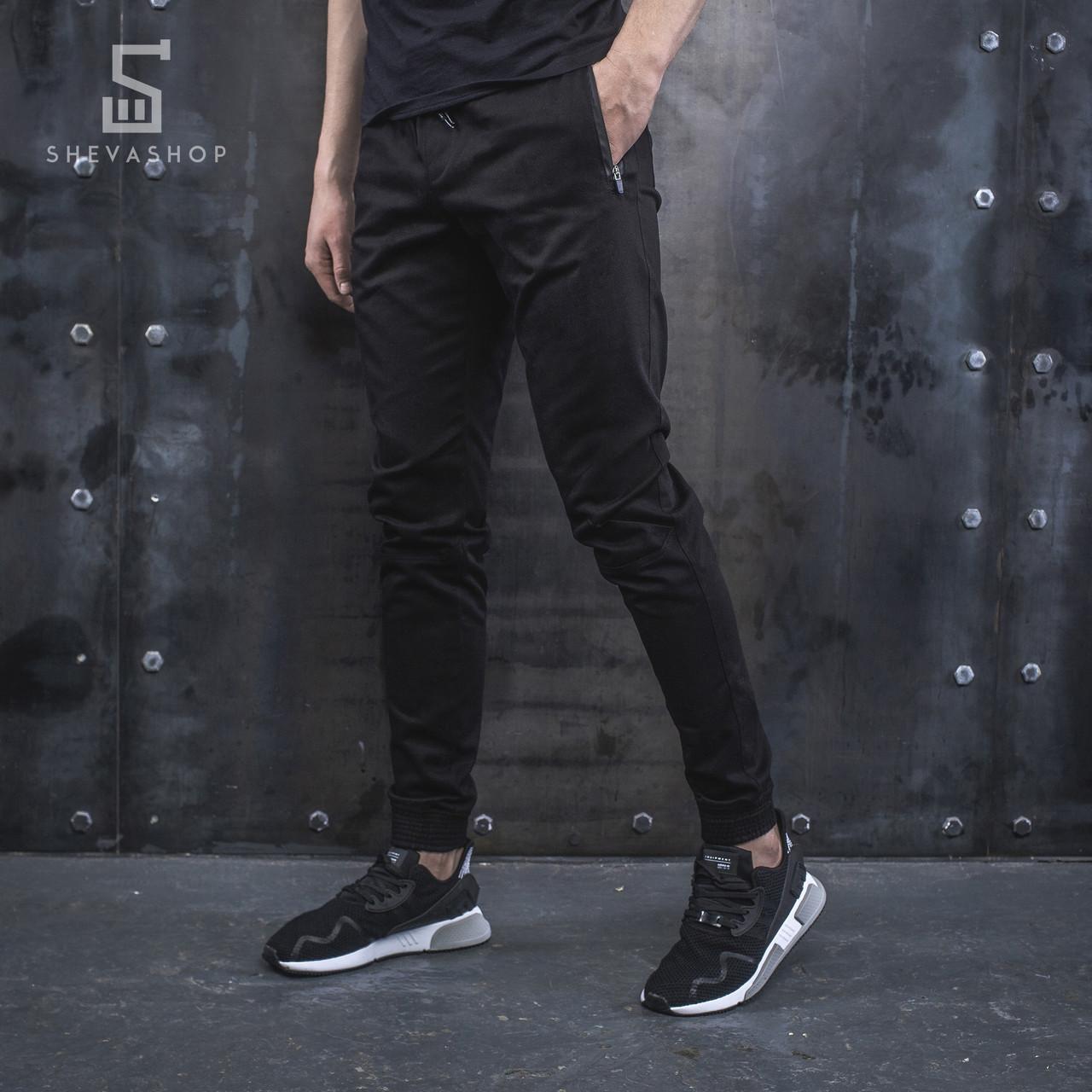 Джоггеры чоловічі BeZet Casual 19 чорні(тільки L)