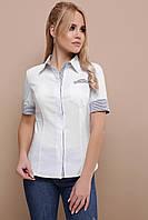 Женская приталенная рубашка с коротким рукавом ad11524e4e17f