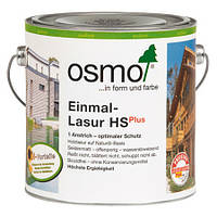 Однослойная лазурь для дерева Osmo Einmal-Lasur HS plus 9241 дуб 2,5 л