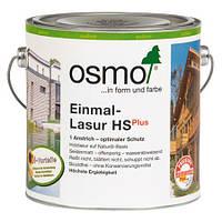 Однослойная лазурь для дерева Osmo Einmal-Lasur HS plus 9242 зелёная ель 2,5 л
