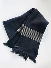 Шарф с серыми полосками, мальчик, синий 123BFLB003 BRUMS, Италия