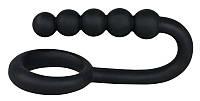 Кольцо для пениса с анальной цепочкой MR. HOOK черное, фото 1