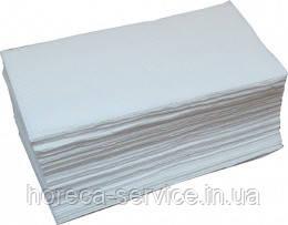 Белые бумажные целлюлозное полотенца V сложение, 2-слойное, 150 листов, фото 3