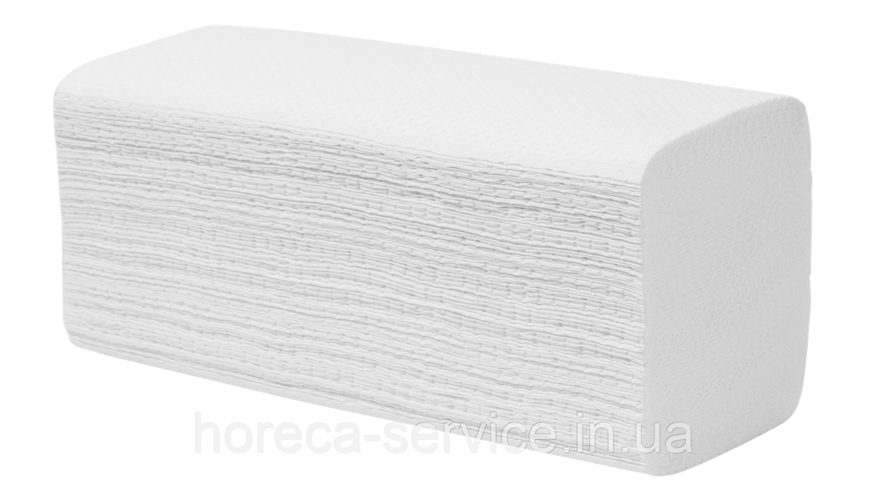 Белые бумажные целлюлозное полотенца V сложение, 2-слойное, 150 листов