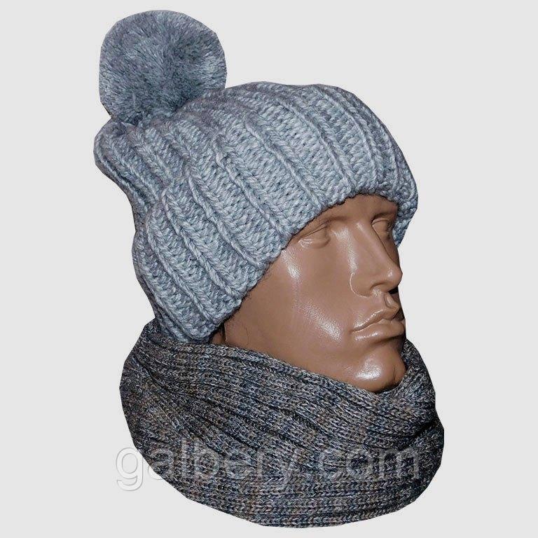 """Зимова шапка """"Поло"""" ручної роботи"""