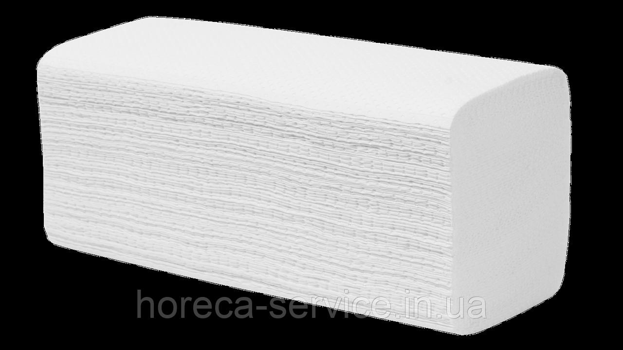 Белые бумажные целлюлозное полотенца V укладки, 2-слойное, 200 листов