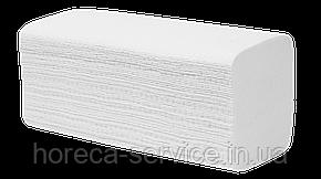Белые бумажные целлюлозное полотенца V укладки, 2-слойное, 200 листов, фото 2