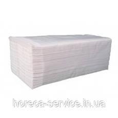 Белые бумажные целлюлозное полотенца V укладки, 2-слойное, 200 листов, фото 3