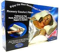 Подушка ортопедическая с эффектом памяти анатомическая для комфортного сна Memory Pillow