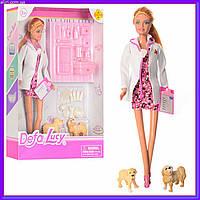 Кукла доктор ветеринар с собачками и аксессуарами  DEFA 8346A