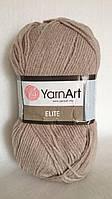 Пряжа YarnArt Elite, производство Турция, цвет - серо-бежевый