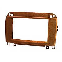 Рамка переходная Carav 11-409 Mercedes-Benz SL (R230) 2001+ wooden 2-DIN