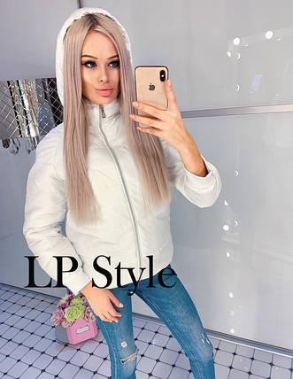 Белая куртка женская еврозима, фото 2