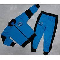 Трикотажный спортивный костюм для мальчика синего цвета Футболист 86-120 р