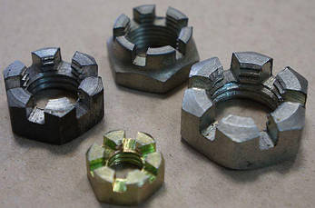 Гайка М12 прорезная и корончатая ГОСТ 5919-73, (аналог DIN 937), фото 2