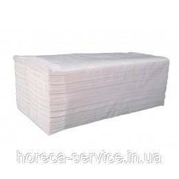 Белые бумажные целлюлозные полотенца белые V cкладки, 1-слойное, 200 листов 24,5*23 TM PAPERO, фото 2