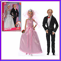 Семья кукол жених и невеста DEFA 8305, барби и кен