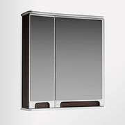 Зеркальный шкаф для ванной комнаты Венеция Вз 1-65лв ( венге, левое ) ВанЛанд