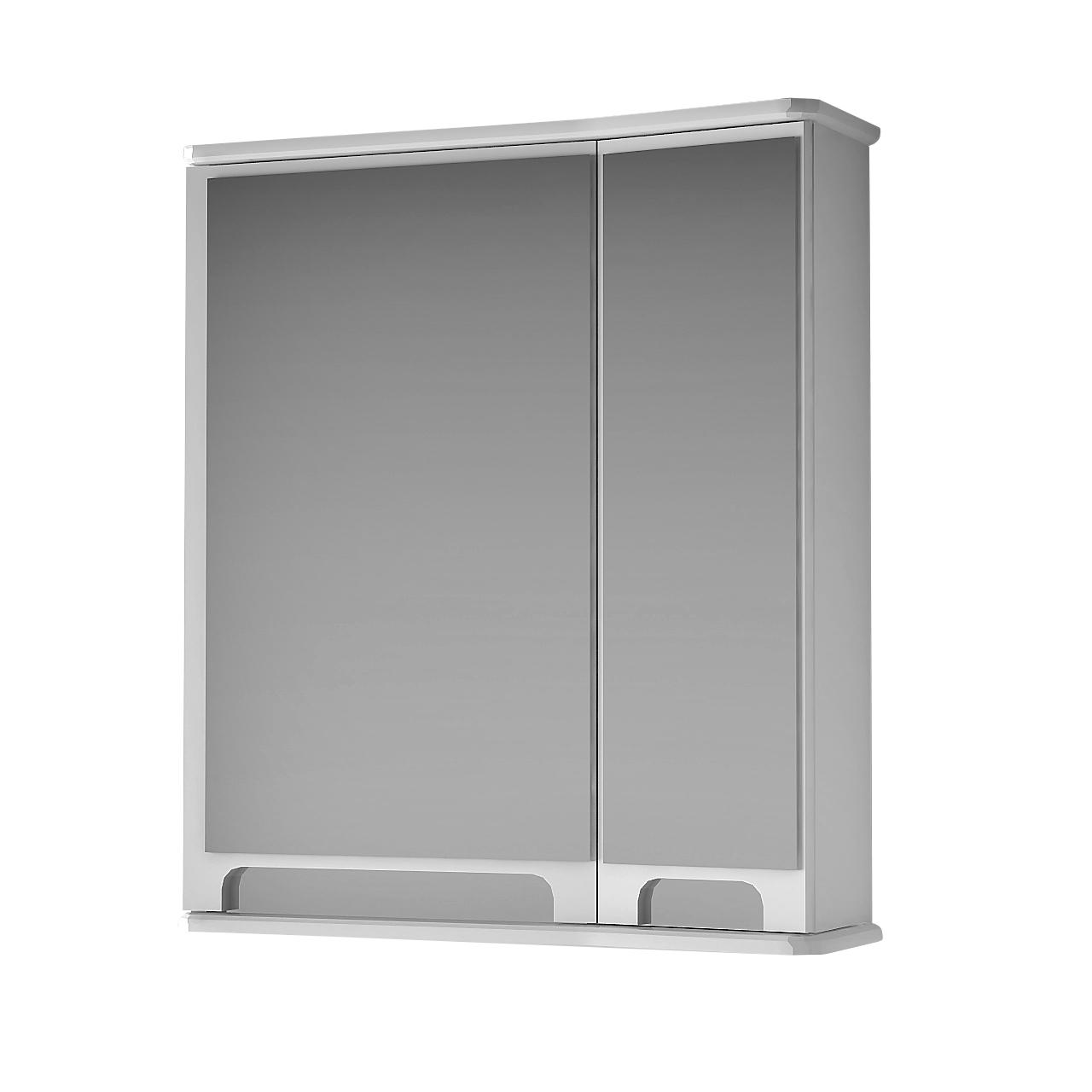 Дзеркальна шафа для ванної кімнати Венеція Вз 1-55п ( біле, праве ) ВанЛанд