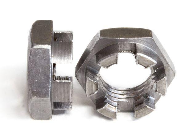 Гайка М18 прорезная и корончатая ГОСТ 5919-73, (аналог DIN 937)