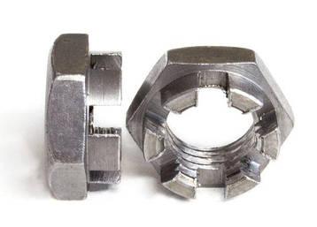 Гайка М18 прорезная и корончатая ГОСТ 5919-73, (аналог DIN 937), фото 2