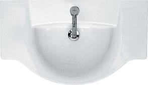 Тумба под раковину для ванной комнаты Венеция Вт 2-80м ( дуб молочный ) с умывальником Libra 80 ВанЛанд, фото 3