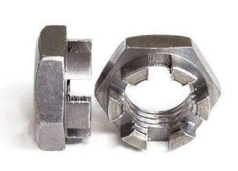 Гайка М20 прорізна і корончатая ГОСТ 5919-73, (аналог DIN 937), фото 2