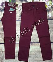 Яркие штаны для мальчика 7-11 лет (бордо) опт пр.Турция
