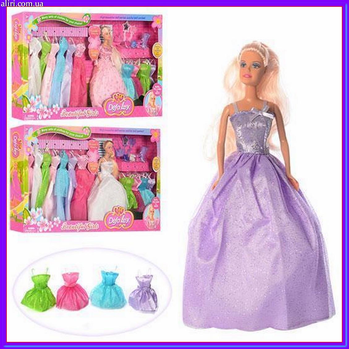 Кукла с платьями и аксессуарами в коробке DEFA 8027