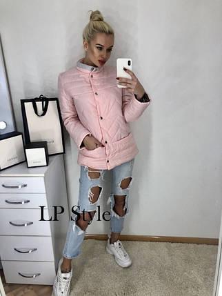 Розовая куртка - пиджак деми, фото 2