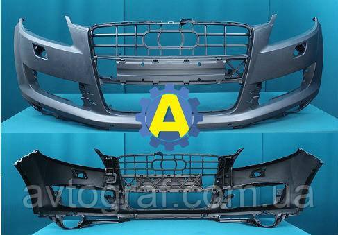 Бампер передний под парктроники на Ауди Q7 (Audi Q7) 2005-2013