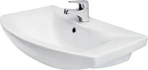 Тумба под раковину для ванной комнаты Венеция Вт 1-65м ( дуб молочный ) с умывальником Omega 65 ВанЛанд, фото 3