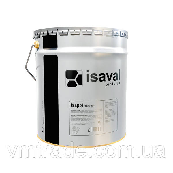 Лак паркетний, поліуретановий однокомпонентний, Изаваль Изаполь (Isaval, Isapol parquet) 4 л